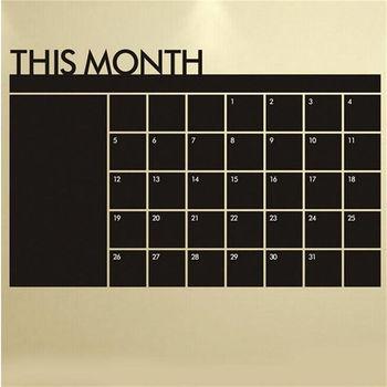 Monthly Chalkboard 60cm x 92cm 1
