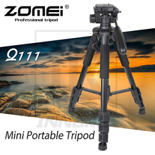 цены New Zomei Aluminium Alloy Q111 Mini Portable Tripod for DSLR camera professional light compact travel stand