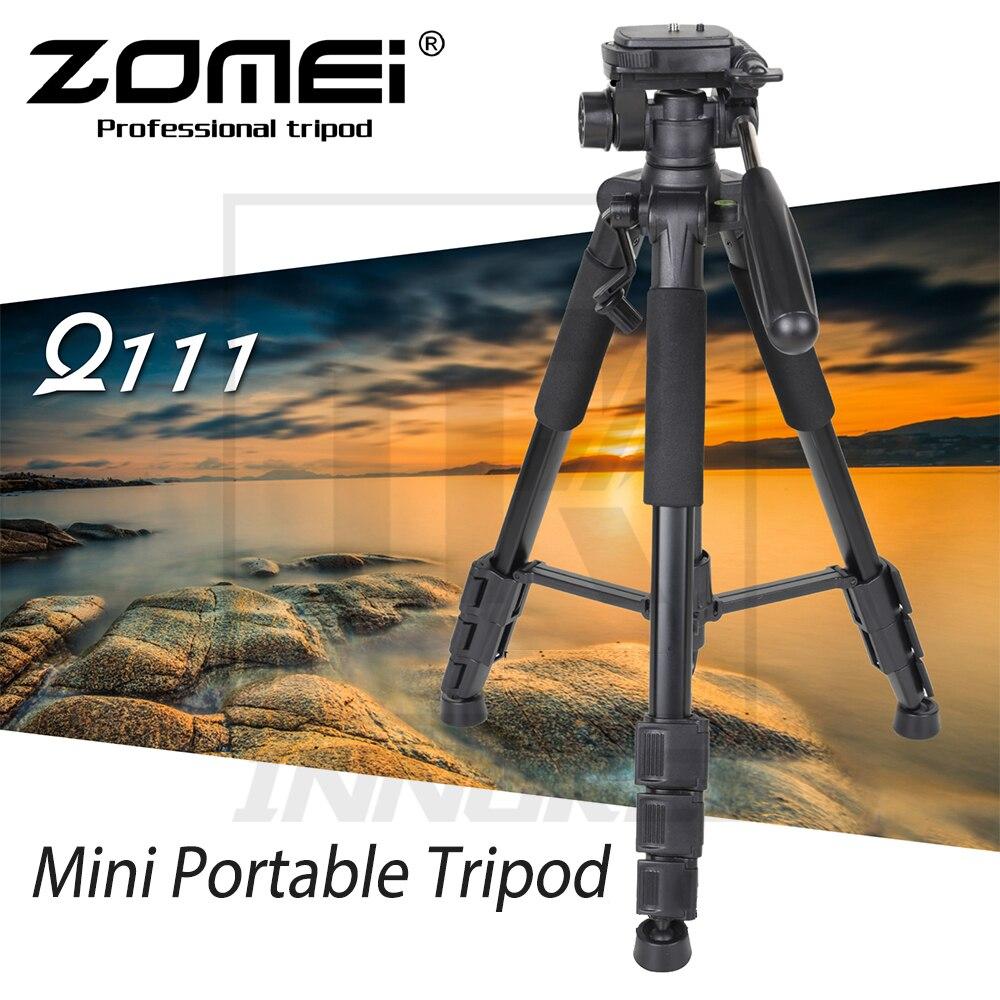 Nuevo Mini trípode portátil de aleación de aluminio Zomei Q111 para cámara DSLR luz profesional soporte de viaje compacto-in Trípodes from Productos electrónicos    1