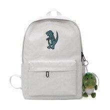 Dinosaur Embroidery Women Backpacks Preppy Fresh School Bag for Teenager Girl Korean Style Travel Daily Backpack Bags mochila цена в Москве и Питере