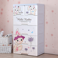 Increased thickening baby wardrobe drawer storage cabinets puzzle toy children plastic wardrobe lockers chest of drawers