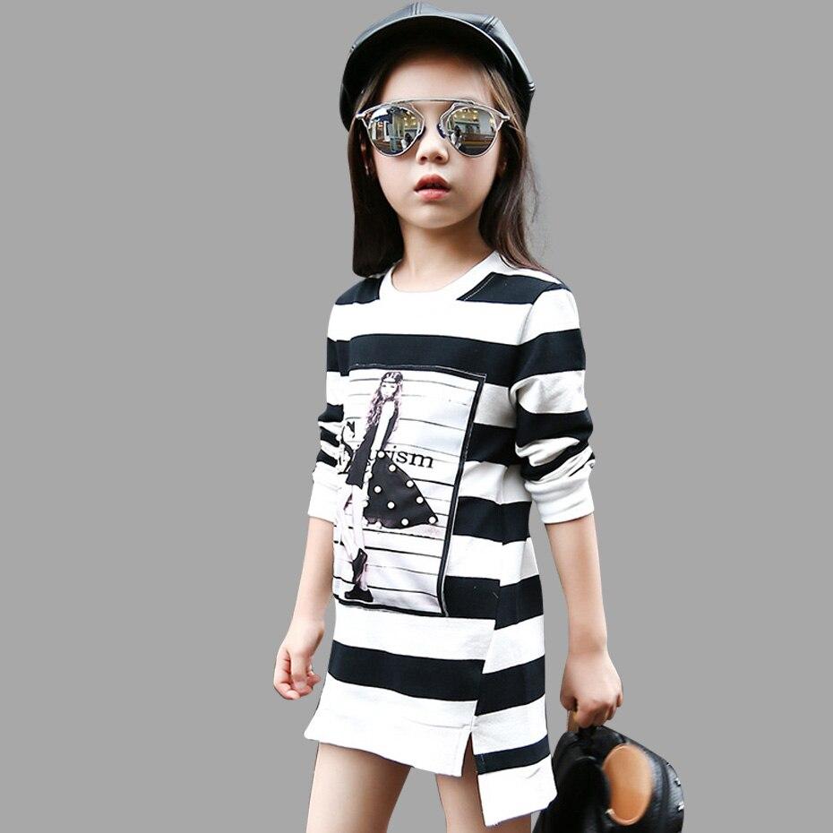 Kinder Mädchen Baumwolle Gestreiften Langarm Mädchen Kleidung ...