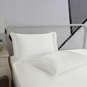 Image 3 - Weichen Satin Seide Ausgestattet Blatt Kissenbezug Bettwäsche Set Amerikanischen Stil 3/4Pcs Bett Bettwäsche Twin Voll Königin Größe bettwäsche Sets