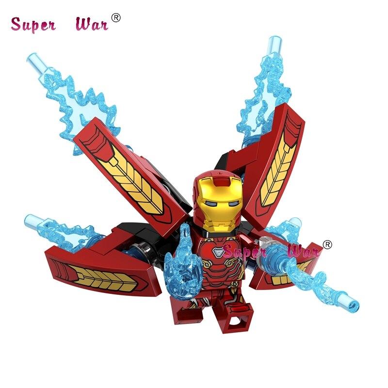 50pcs Avengers Infinity War Iron Man Black Widow Doctor Strange Black Panther Lord Hulk building block