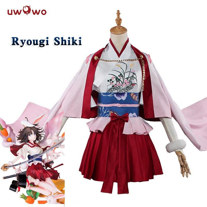 UWOWO Saber Shiki Ryougi Fate Grand Order Cosplay Anime Fate/EXTRA Costume Women