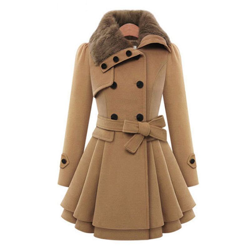 Winter Coat Women Wool & Blends Coats Female Jacket Winter Woman Coat Warm Windbreaker Plus 2019 New