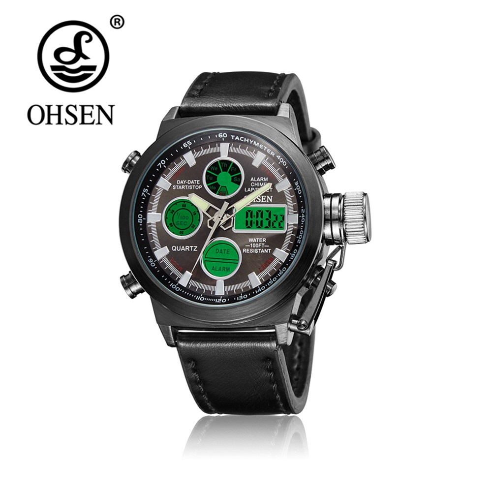 Original OHSEN Digital Analog Watch Dual Time 1