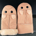 2016 nuevos niños guantes calientes lindos de la historieta del otoño y el invierno que espesa más el terciopelo de piel YJ 346