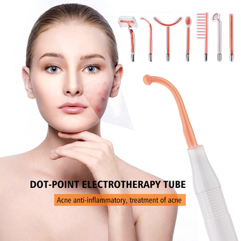 7 in 1 High Frequency Electrode Glass Tube, Electrotherapy Beauty Device Face Spot Acne Remover Facial Massager Relaxa