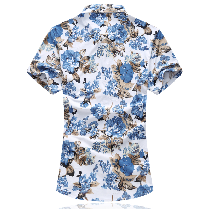 MOGU Short Sleeve Hawaiian Shirt 2017 High Quality Summer New Arrival Floral Mens Shirt Casual Shirts Asian Size 6XL Men Shirt