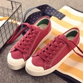 New Arrival 2017 Fashion Casual Canvas Shoes Lacing Platform Shoes Candy-colored Canvas Outdoor Shoes Size 35~40