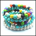 nice colors turquoise stone beads bracelets for men's bracelet,women's bracelets size 8mm best wholesale price