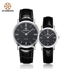 2016 Lovers Watches Women Quartz Watch Waterproof Leather Ultra Thin Watches for Men Couple Casual Retro