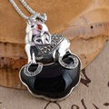 [silver] silver deer king S925 wholesale sterling silver pendant antique style female elephant new agate