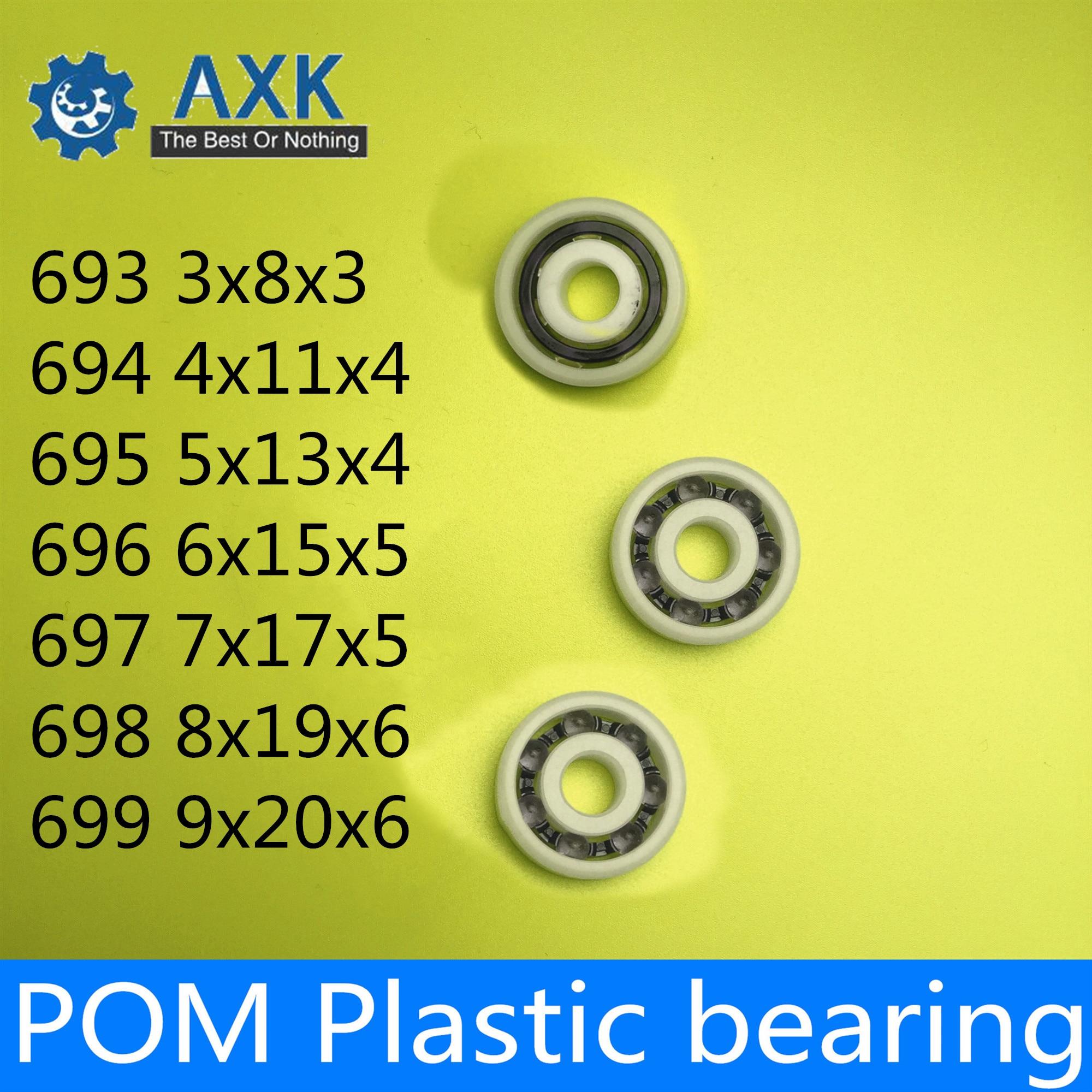 9x24x7 mm 609 10 PCS Plastic Nylon POM Ball Bearing Bearings 9*24*7