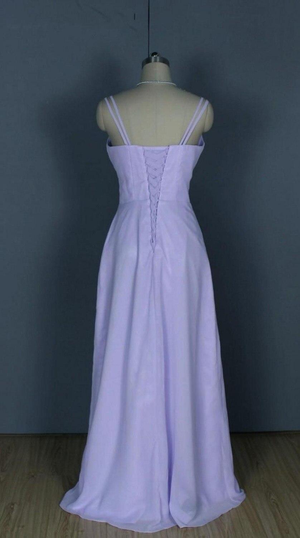 Lujo Reales Largos Vestidos De Dama De Honor Azul Colección de ...