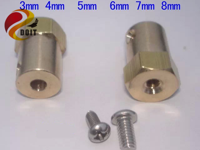 Official DOIT Coupling Hexagonal Brass Connector Connecting Shaft 3mm 4mm 5mm 6mm 7mm 8mm Robot Car Tank Wheel DIY RC Electronic motor shaft joint coupling brass coupler shank connector transmission 3 17mm to 2 3 4 5mm rc airplane car model hobby power tool