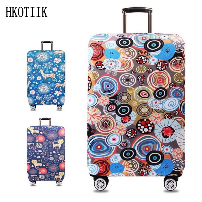 "Suitcase Case Travel Accessories for S / M / L / XL 18-32 ""Inches, Suitcase Elastic Protective Cover, Trolley Case Luggage Cover"