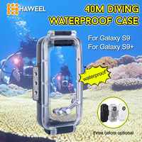 HAWEEL For Galaxy S9/S9+ 40m/130ft Underwater Diving Phone Protective Case Surfing Swimming Snorkeling Photo Video Taking Cover