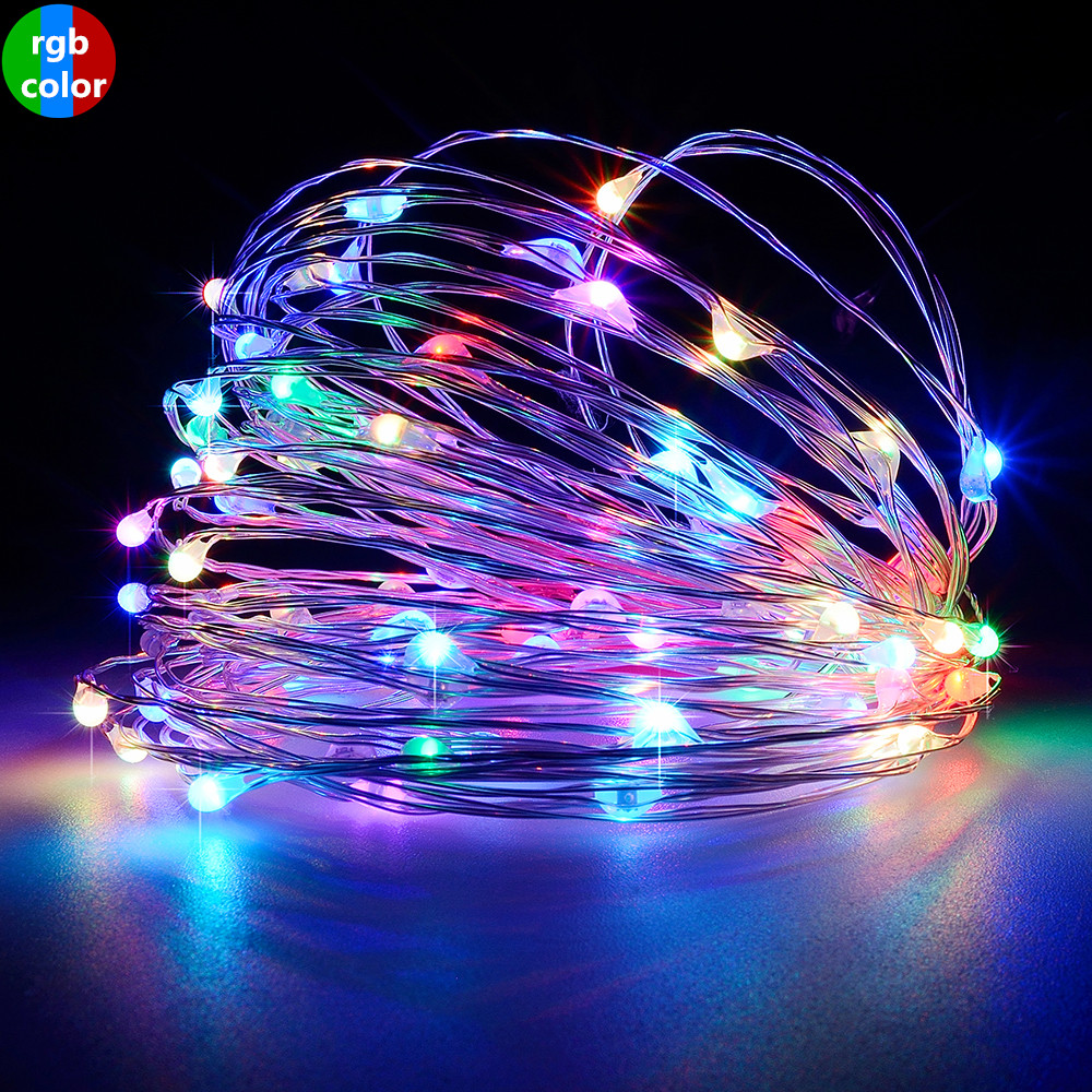 Outdoor Solar Light String Home 7M 12M 22M Garden Copper Wire Light String Fairy Outdoor Solar Powered Christmas Party Decor