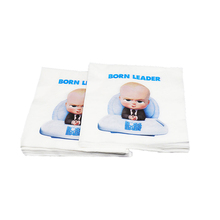 20pcs/pack Boss Baby theme disposable paper napkins party decoration tissue