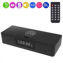 BS 39A Built in Microfono Bluetooth Soundbar Altoparlante con Senza Fili QI di Ricarica e LED di Visualizzazione Intelligente per il Telefono/PC/TV
