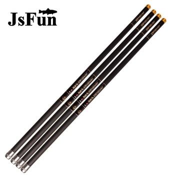 JSFUN 8m 9m 10m 11m 12m 13m caña de pescar de fibra de carbono telescópica 75cm portátil caña manual o eléctrica pesca de invierno + 3 puntas de repuesto FG132