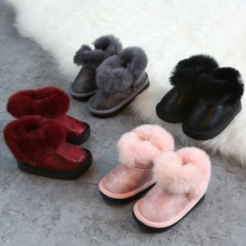 все цены на POSH DREAM 0 -3 Years Old Boys and Girls Baby Winter Boots Real Leather Velvet Warm Baby Girls Snow White Boots for Winter онлайн