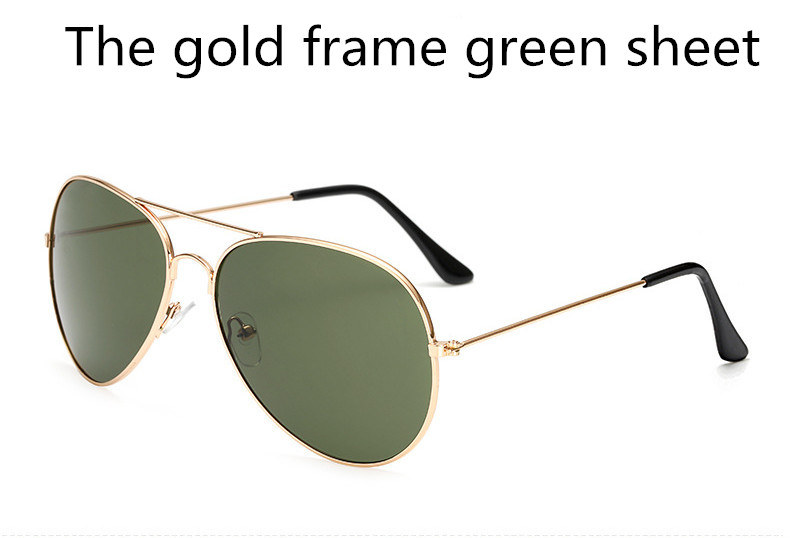 ASUOP2018 new ladies retro cat eye sunglasses luxury brand fashion men's pilot glasses UV400 night vision goggles night vision goggles (6)