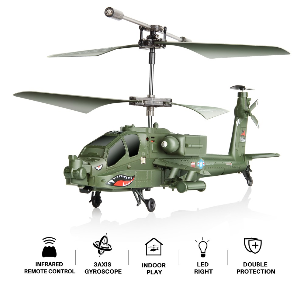 Syma S109G 3.5 Channel RC Helicopter with Gyro Brushed Motor Mini Simulation Military Helicopters Fighter Jets Toys Gift for Kid caterham 7 csr