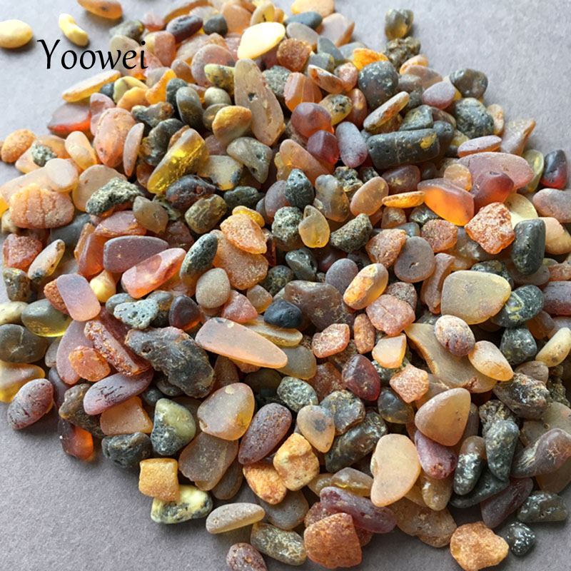 цена на Yoowei Raw Amber Beads for Pillow Making diy Precious Baltic Natural Medicinal Small Beads Irregular Amber Chips Beads Supplier
