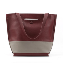 Women Leather Casual Shopping Bag Handbags Bucket One Shoulder Hand Bag Purse 2016 Winter and Autumn Large Bag Purse