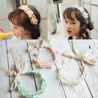 Korea Spitze Blume Crown Kopf Band Haar Zubehör schöne stickerei Stirnband für Grils Haar Band Haar Bogen Prinzessin 4