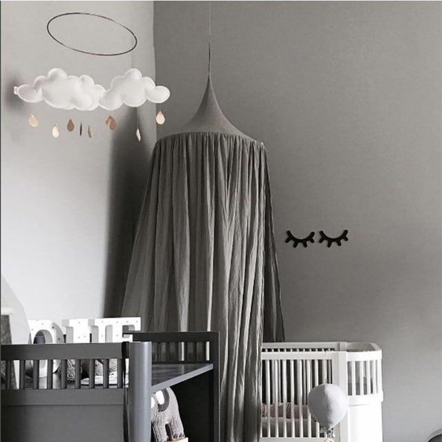 Elegant Kinder Jungen Mädchen Prinzessin Baldachin Bett Volant Kinderzimmer  Dekoration Baby Bett Runde Moskitonetz Zelt Vorhänge