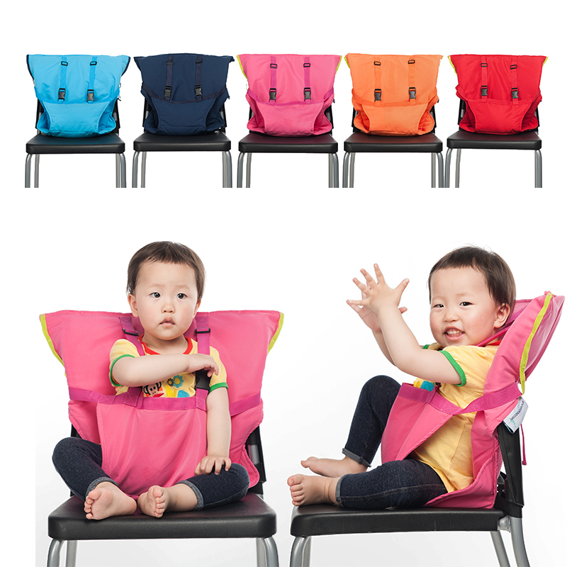 Baby Portable Seat Kids Chair Travel Foldable Waterproof Washable Infant Dining Cover Seat Safety Belt Feeding High Chair Seat