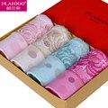 Plandoo 2017 Женщины Краткое Сексуальные Трусики 100% Хлопок Комфортно Абсорбент 4 Шт. Лот Подарки Пакет для 160-175 см