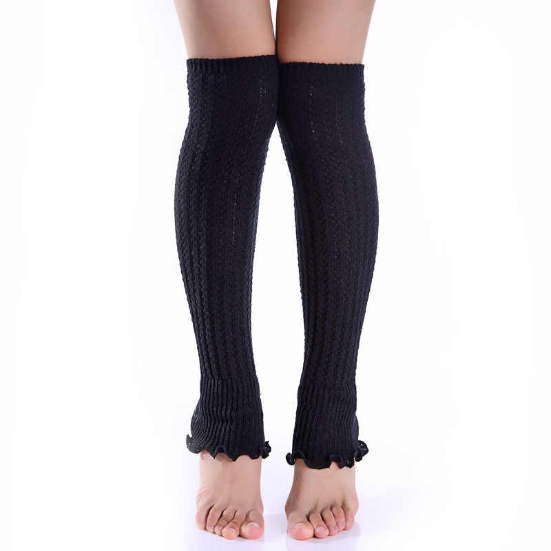 Kadın Çizme Çorap Katı Bayan Örgü bot paçaları Yetişkin bacak ısıtıcısı Boot Isıtıcıları Çorap Çorapları Beenwarmers bot galoşları