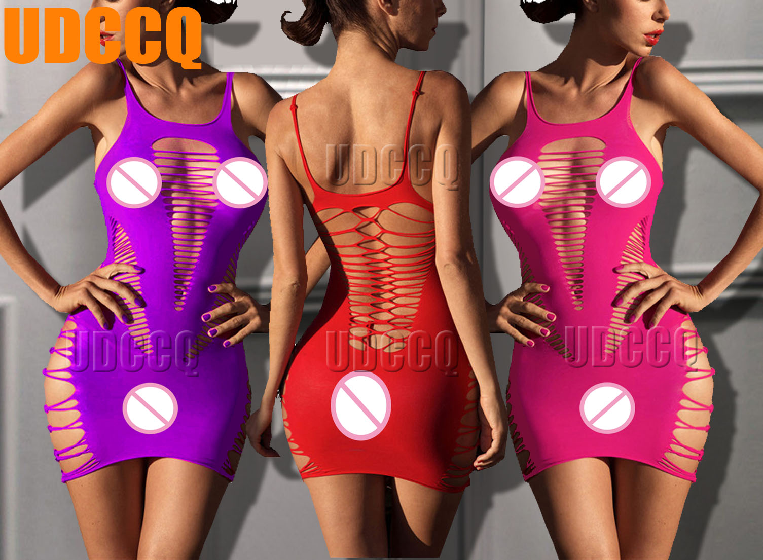 Sexy Fish Net Lingerie Babydoll baby doll dress perforate Underwear Chemises Teddies Costume Body stocking costumes Negligees in Babydolls Chemises from Novelty Special Use