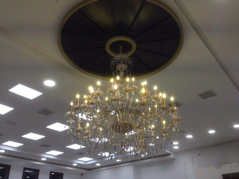 Big 45-arm high ceiling chandelier crystal droplight Hotel - Indoor Lighting - Photo 2