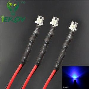 Image 2 - 20pcs LED 3mm LED DIODE 12V Pre Wired 12v DC Flat top Emitting Diodes Wide Angle 20CM DIY