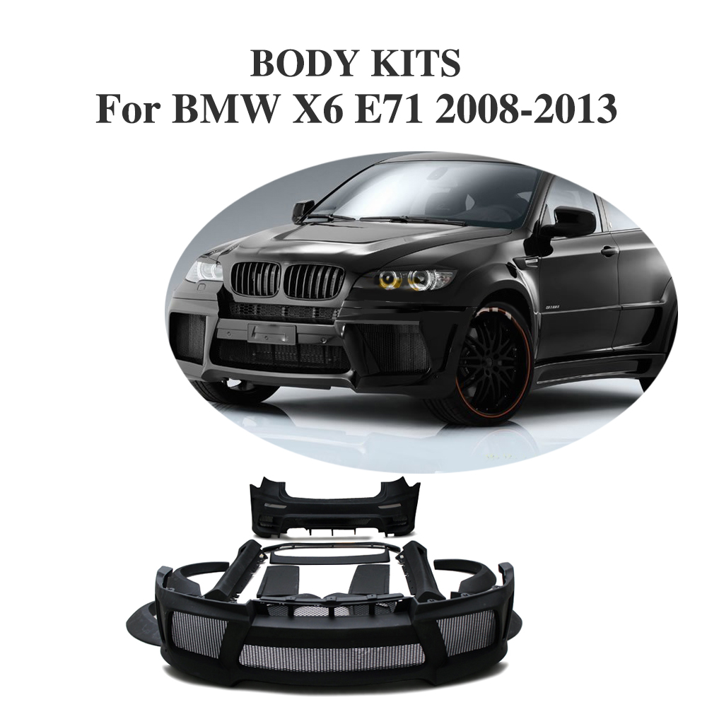 цена на FRP Black Primer Car Accessories Bumper Guard Body Kits for BMW X6 E71 2008-2013