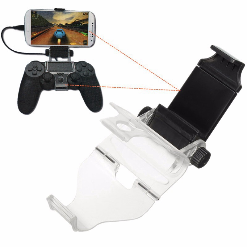 Black Adjustable For Android Mobile Phone Smart Clip Clamp Holder with OTG Data Cable For PS4 for Dualshock Controller