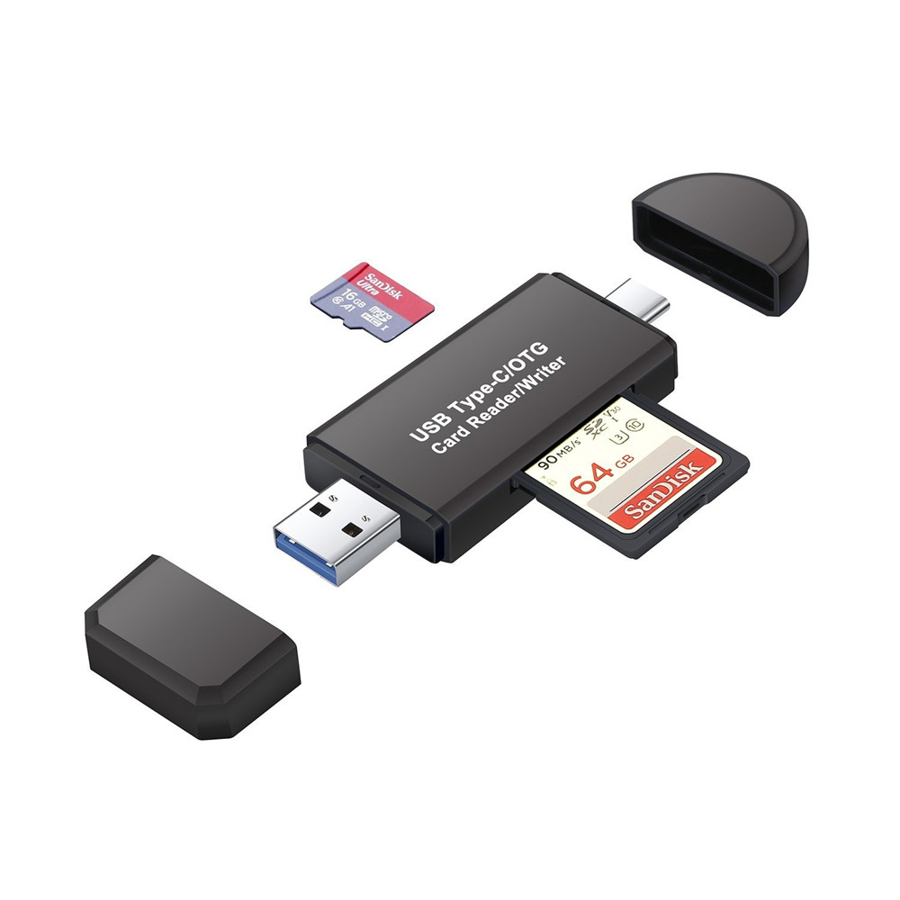 USB 3.0 Type C Card Reader OTG Adapter SDXC SDHC SD MMC RS-MMC Micro SDXC Micro SD Micro SDHC Card Reader For Smartphone Laptop