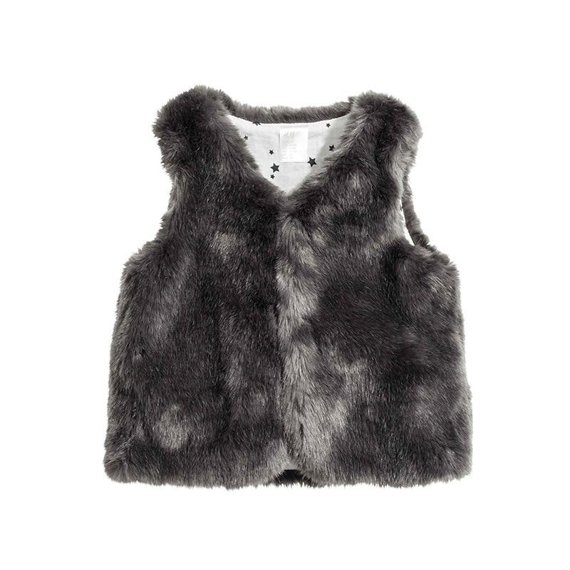 Baby Fur Coat Infant Autumn Winter Vest Toddler Boys/Girls Sleeveless Waistcoat Jacket V-neck Faux Fox Fur Vest DQ414