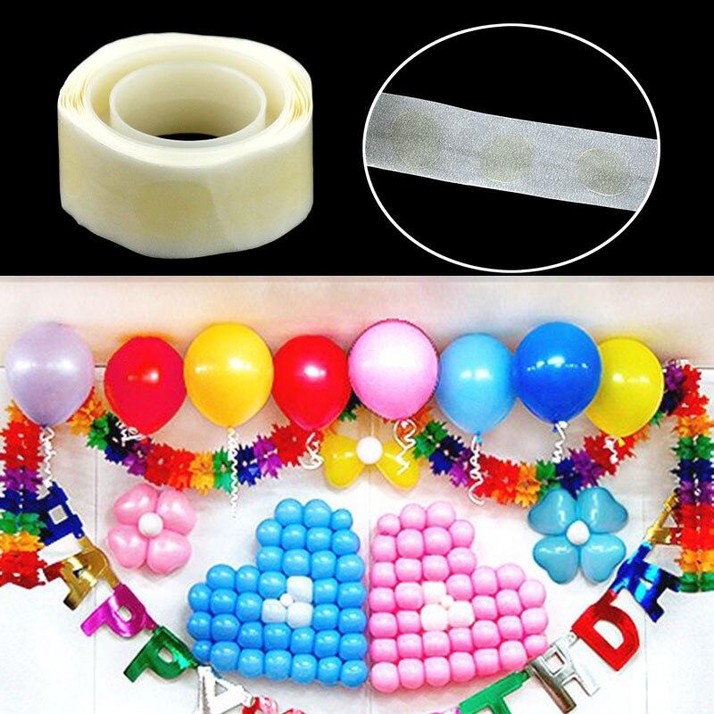 100/Roll Removable Balloon Foil Glue Dot Wedding Birthday Decoration DIY