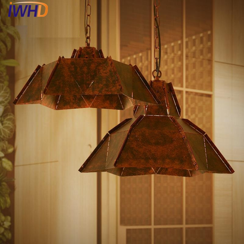 IWHD Loft Style Iron Droplight Edison Industrial Vintage Pendant Light Fixtures Dining Room LED Hanging Lamp Lamparas antique loft style iron droplight industrial wind vintage pendant light fixtures dining room hanging lamp lamparas colgantes