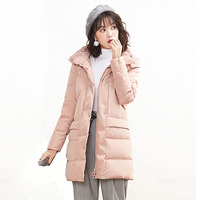 Female is long down jacket women 2018 parkas fashion casual loose filled 90% white duck coat Snow weather plus size outwear