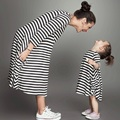 Kindstraum 2017 Striped Family Look Top Quality 2 Kinds Mother Daughter Dresses Cotton Summer Pocket Family Clothing,RC634