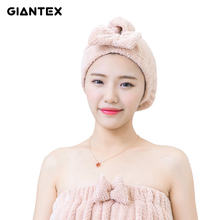GIANTEX Women Head Towels Bathroom Cotton Towel Hair Towel Bath Towels For Adults toallas serviette de bain recznik handdoeken