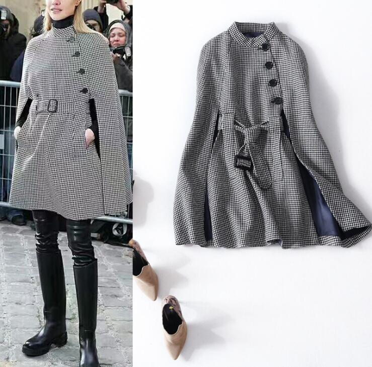 Popular Tweed Cape Coat-Buy Cheap Tweed Cape Coat lots from China ...